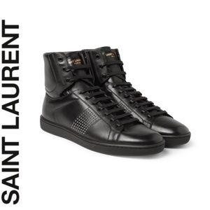 Saint Laurent High Top Studded Sneakers